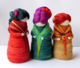 muñecas de vellón