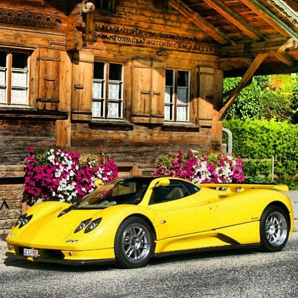 Pagani Zonda Soaking Up The Alpine Sports Cars Sport Cars