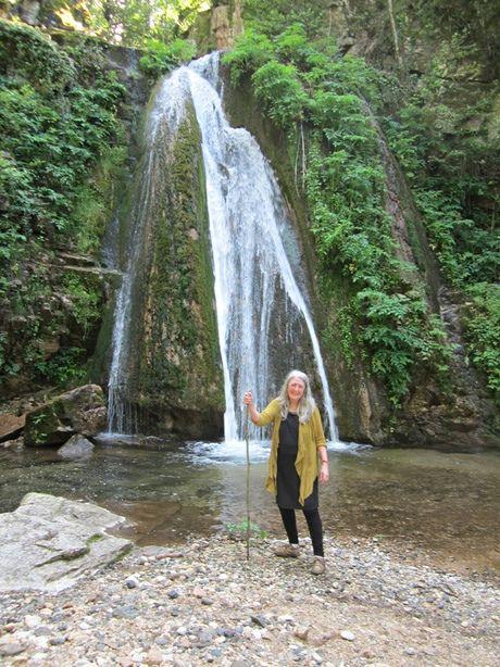 Mary Beard at Varvara falls -Halkidiki