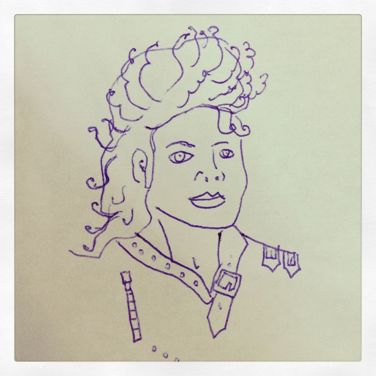 MJ doodle, 2013 Pen and a couple of minutes of my time.