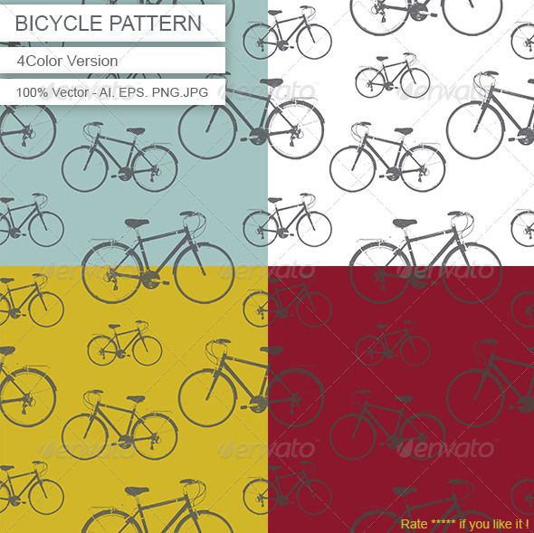 Bicycle Pattern for sale http://graphicriver.net/user/DenisBors/portfolio?ref=DenisBors