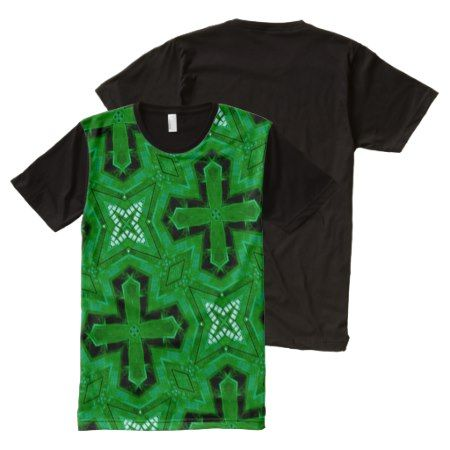 green trendy abstract pattern All-Over-Print shirt - tap to personalize and get yours