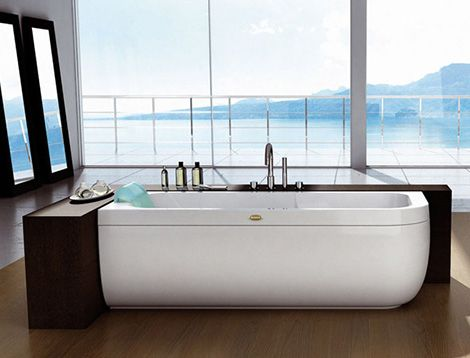 The modern luxury bathroom is not complete without a designer bathtub from Jacuzzi Europe, designed by Carlo Urbinati. The clean and contemporary style of the modern European Aquasoul Offset...