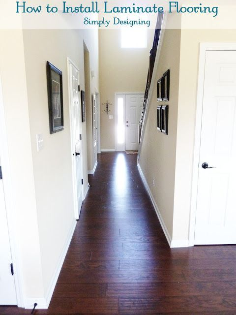 Final Photo Of Front Hallway After Laying Laminate Flooring Home
