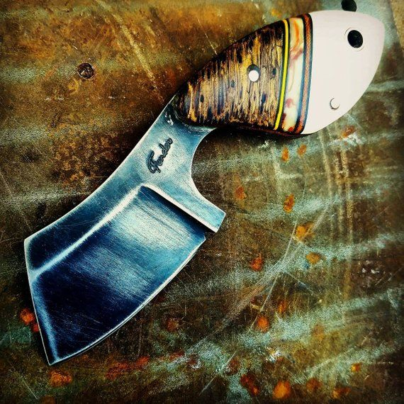 The Fender Gutsy Is A Gambler Inspired Boot Knife With Classic Character Thats Effortlessly Carried In A Pocket As Well The Fen Knife 1095 Steel Cleaver Knife