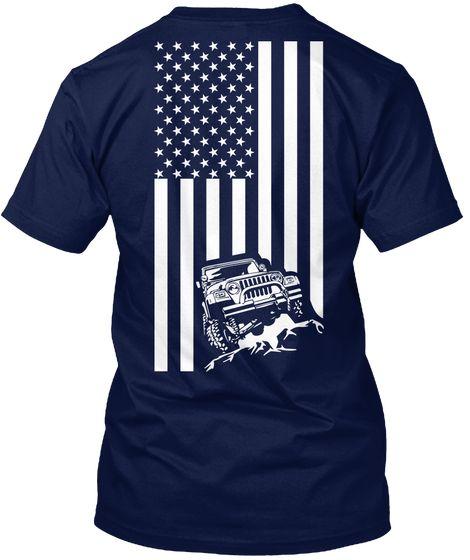 Wrangler Jeep Shirt Navy T-Shirt Back