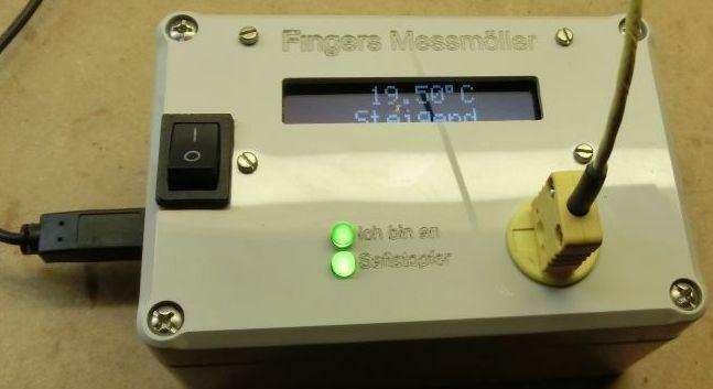 Fingers elektrische Welt Gallerie Elektronik Geigerzähler selbstgehäkelt
