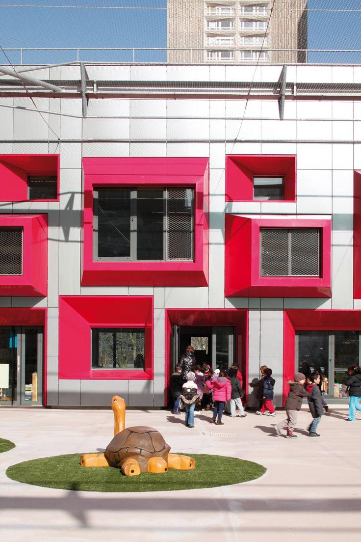 eva samuel architecte et associes: ecole maternelle javelot
