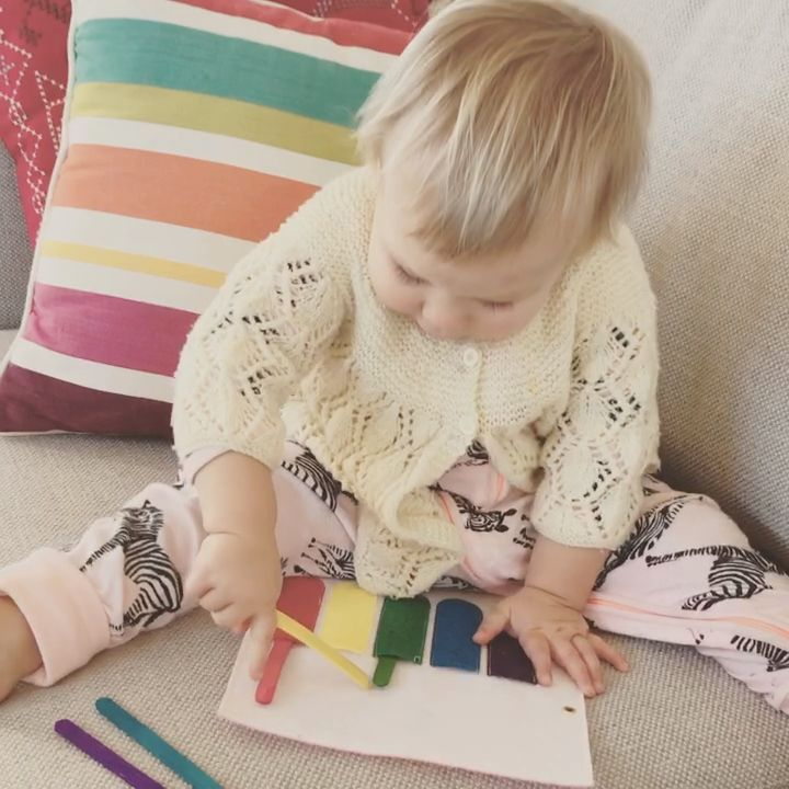Cute colour matching activity for babies and toddlers