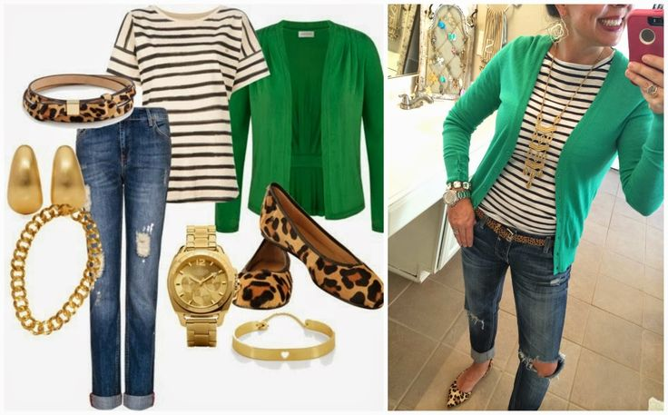 Leopard and Green....AND STRIPES! I loved doing this classic Pinterest Told Me To recreation!