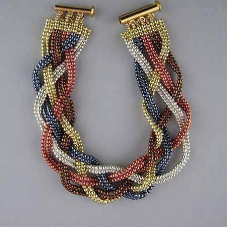 Braid Quintet Bracelet by Kathy Luli