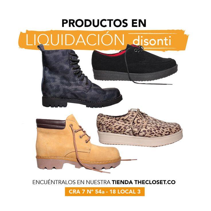 Aprovecha los precios en liquidación en nuestra boutique de la marca DISONTI CALZADO 100% cuero #RedDeDiseñadores #TheClosetStore