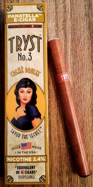 Cigar Dan's Cigar & Coffee Reviews: Tryst No. 3 Panatella Creme Brulee E-Cigar read all about it at http://cheapashcigar.com