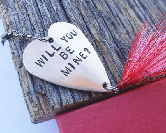 Creative valentines day unique proposal fishing lure will for Creative valentines day ideas for wife