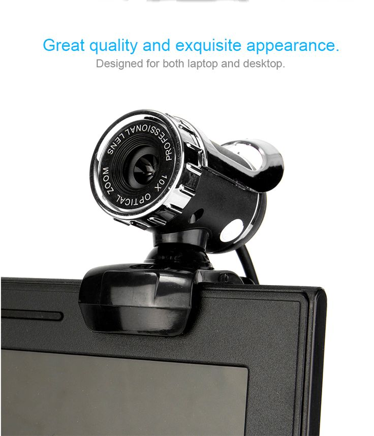 HD Auto White Balance 12M Pixels Webcam with Mic Rotatable Adjustable Camera for PC Laptop