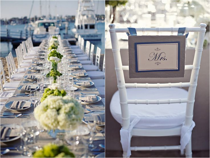Navy And White Table Settings | Lime, Navy And White Table Setting