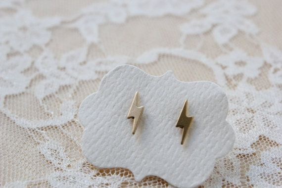 Lightening Bolt Stud Earrings | Community Post: The 30 Most Perfect Gifts For Your Biggest Harry Potter Friends This Holiday Season