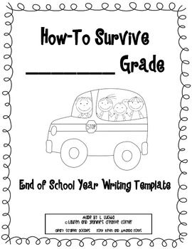 End of the year writing activities for 3rd grade