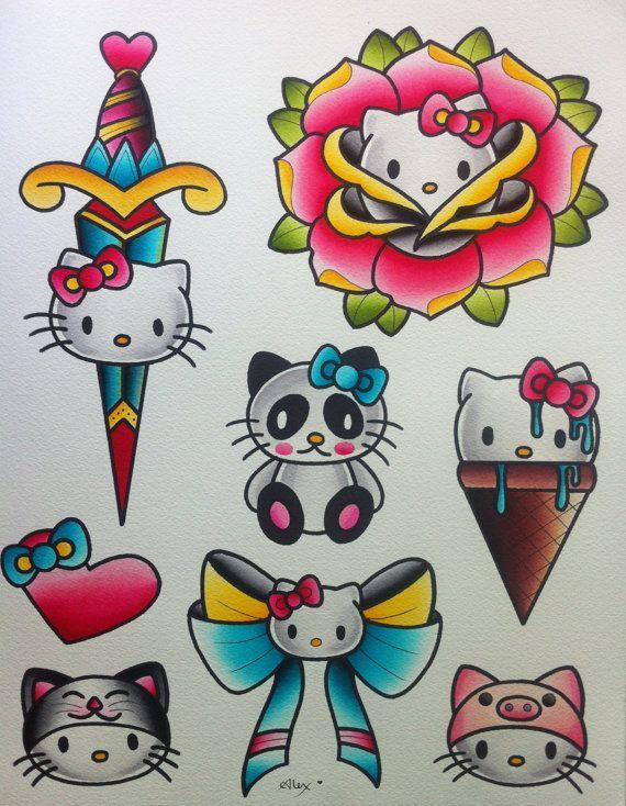 Hello Kitty Flash Sheet by Alex Strangler von AlexStrangler auf Etsy