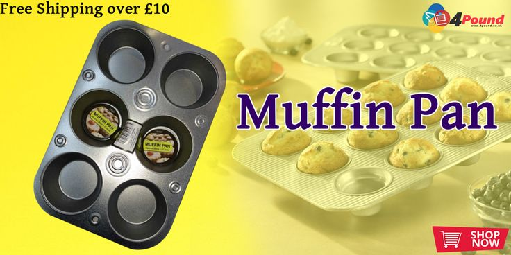 Buy Stainless Steel Muffin & Cup Cake Pan Only at #4pound store