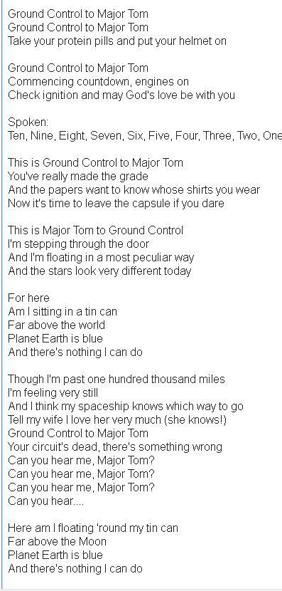 Major tom lyrics shiny toy guns meaning of christmas – Christmas 2018