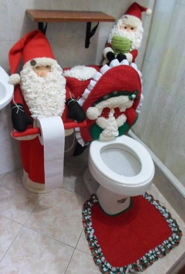 Baño Navideno Navidad:Juego De Bano NAVIDENO