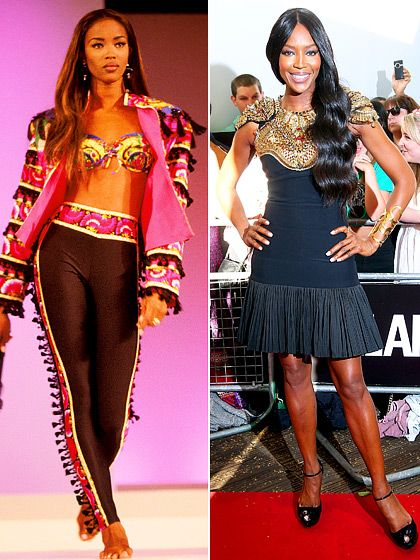 Naomi Campbell Then: Known for her exquisitely long limbs and fierce temper. Now: The British supermodel has been linked with high-profile men like Mike Tyson, Robert De Niro, Flavio Briatore, and most recently billionaire Vladislav Doronin.