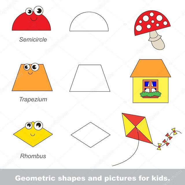 الاشكال الهندسية للاطفال للتلوين Geometric Shapes Geometric Shapes