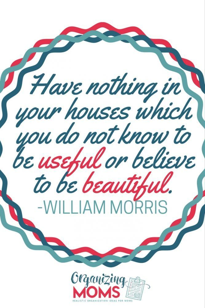 Have nothing in your houses which you do not know to be useful or believe to be…