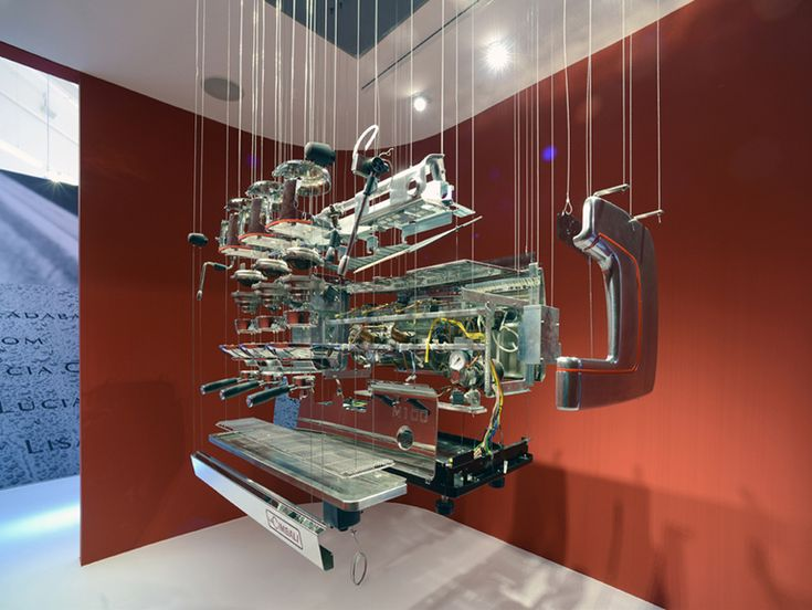 Nice exploded view of a coffee machine