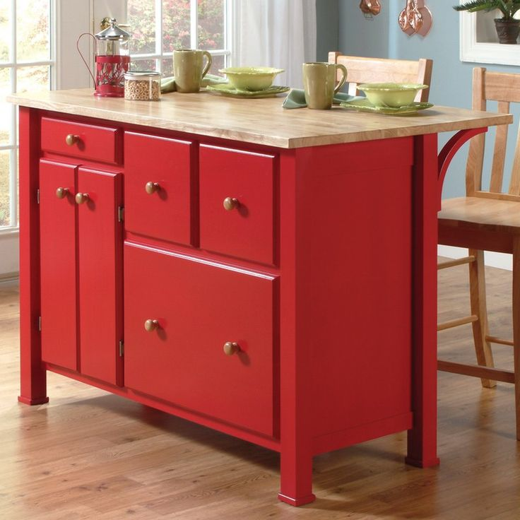 Kitchen Island With Breakfast Bar Red Home Improvements Refference Small