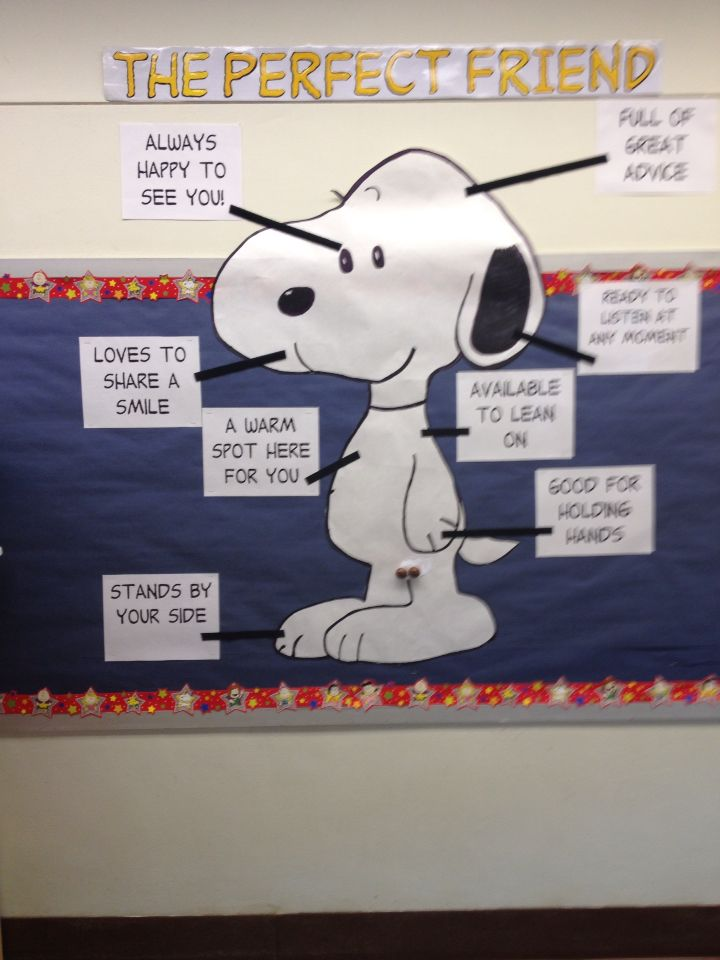 "Snoopy Bulletin Board ""A Perfect Friend"""
