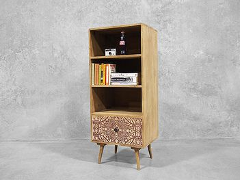 The Shabby Chis Sahara bookshelf will leave you questioning why all bookshelves don't come with a drawer...