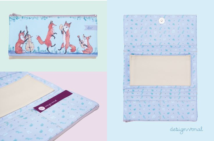 FOX SERENADE women's wallet by Designvonal available at dvshop.hu // Pattern design by Tünde Dicső
