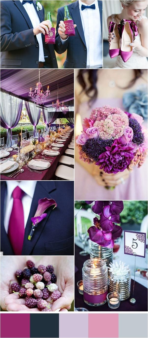 Purple and blue wedding decor   best Wedding color images on Pinterest  Wedding ideas Color