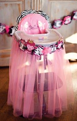 tutu for high chair for first birthday party maybe! I love this only i think id ro like purple and pink?