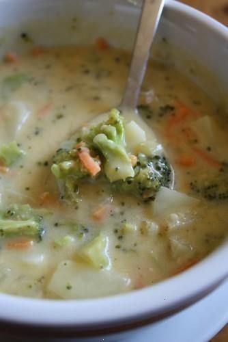 cheesy vegetable chowder (crock pot) - like broccoli cheese but with more veggies.  this looks so delish!