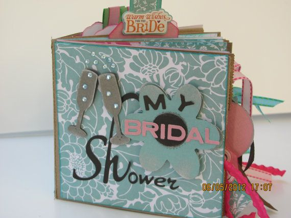 bridal shower wedding paper bag scrapbook mini album brag book photo holder memory book showers pinterest wedding paper scrapbook and