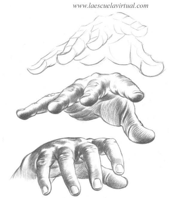 Como hacer dibujo de manos parte 2, aprende a manos tutorial cursillo gratis online how to draw hands drawing draw dibujo lapiz dedos