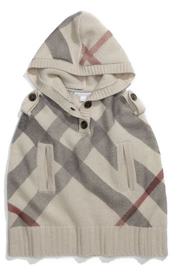 Burberry Hooded Cashmere Poncho. Ridiculously cute!