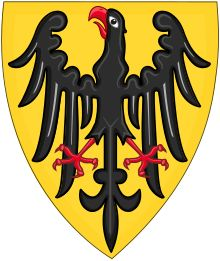 Shield and Coat of Arms of the Holy Roman Emperor (c.1200-c.1300).svg