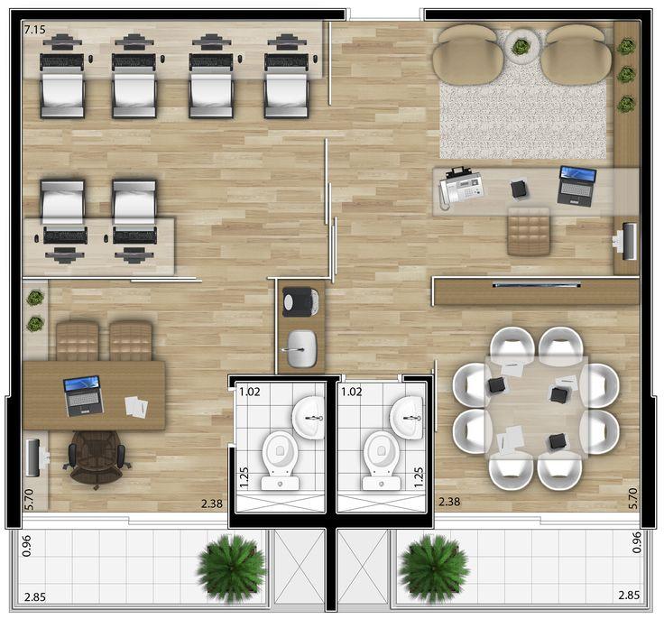 Evolution Paraíso - Planta junção de 2 unidades - 50 m².