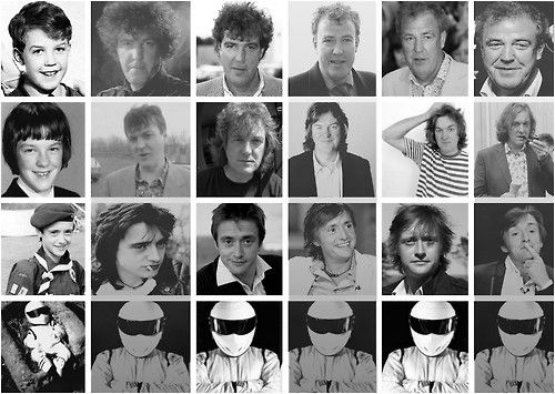 Top Gear's crew - funny evolution throughout the years in just one photo! Someone even had afro hair