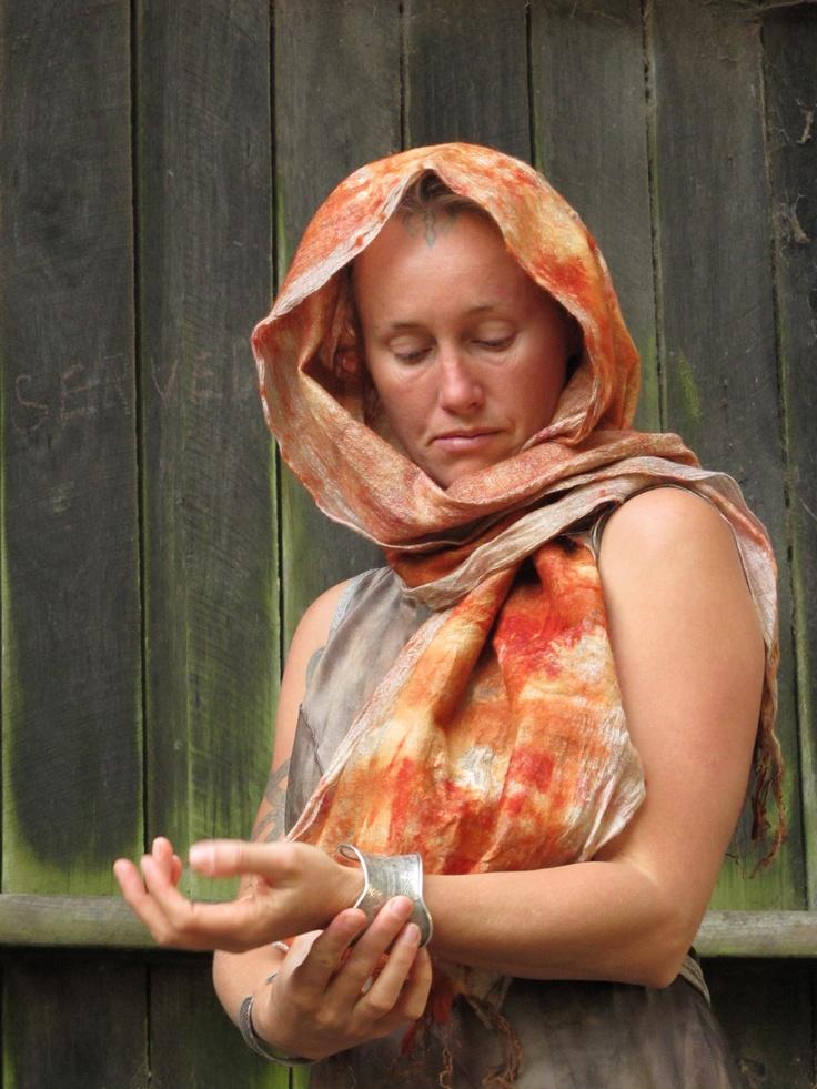 scarf. Created by Susan Fell Mclean Gondwana Textiles Australia
