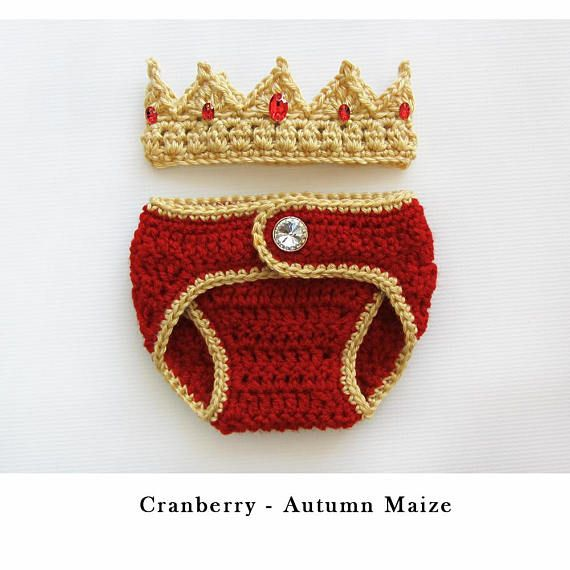 Newborn Baby Boy Clothes Newborn Crochet Crown and Diaper