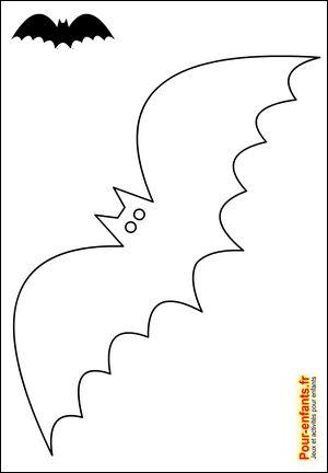 Silhouette chauve-souris Halloween chats forme chauve-souris Halloween pochoir…