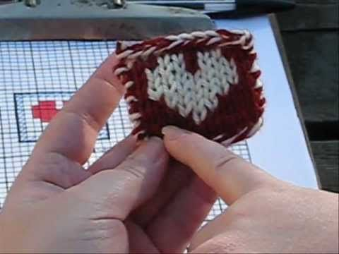 Color Knitting Animal Print * The Fair Isle Knitting Revolution by eliZZZa - YouTube