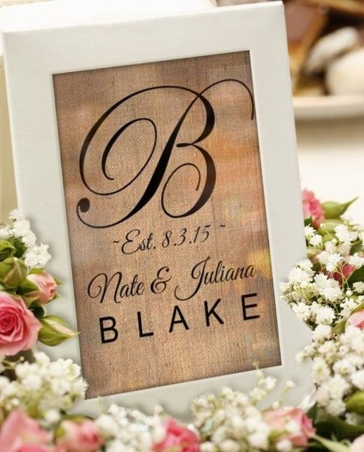 Weddings, decorations, decor, customized est sign, established sign, burlap sign art, bride & groom names wedding date, country chic rustic