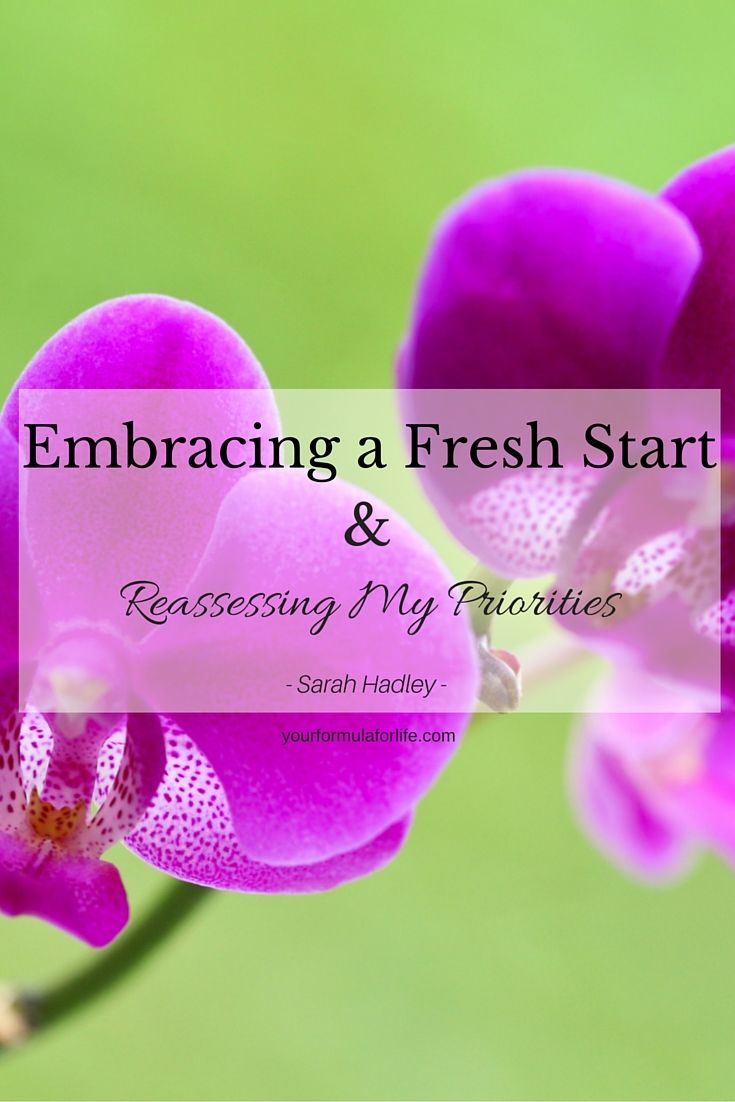 Sarah Hadley has written her first blog and it's all about her career change creating a fresh start for her and enough space to reassess what's important to her.  Want to find out what she realized?  Check our her blog here:  http://www.yourformulaforlife.com/show/blog/8618?utm_content=bufferf2870&utm_medium=social&utm_source=pinterest.com&utm_campaign=buffer  #priorities #alignment #happiness