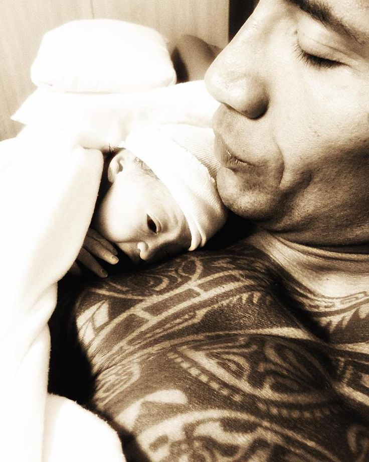 Dwayne 'The Rock' Johnson shares his first snap with his newborn daughter